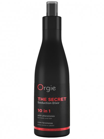 Elixír s afrodiziaky a feromony pro péči o pokožku a vlasy The Secret  200 ml