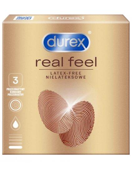 Kondomy bez latexu Durex Real Feel  3 ks