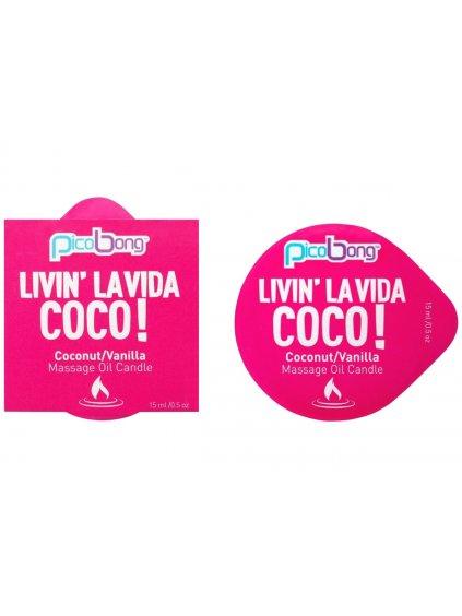Masážní svíčka PicoBong Coconut & Vanilla  15 ml