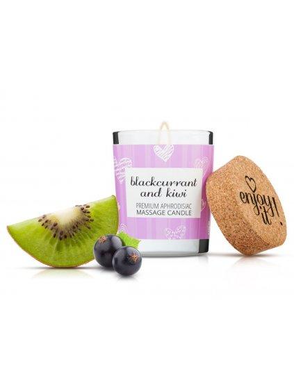 Afrodiziakální masážní svíčka MAGNETIFICO  Enjoy it! Blackcurrant and kiwi