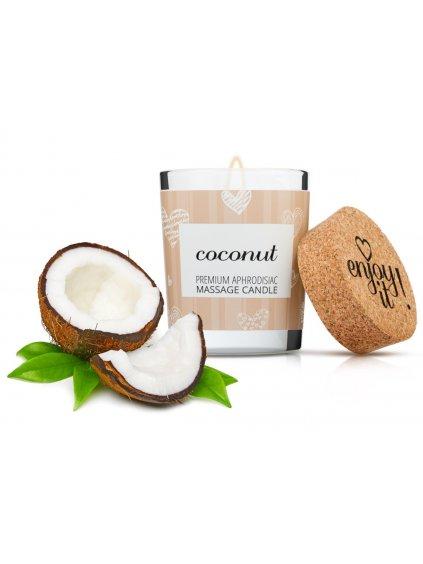 Afrodiziakální masážní svíčka MAGNETIFICO  Enjoy it! Coconut