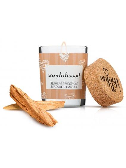 Afrodiziakální masážní svíčka MAGNETIFICO  Enjoy it! Sandalwood