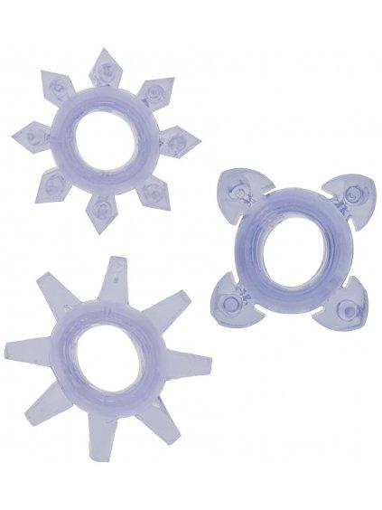 Erekční kroužky Tickle - se stimulačními výstupky  sada 3 ks