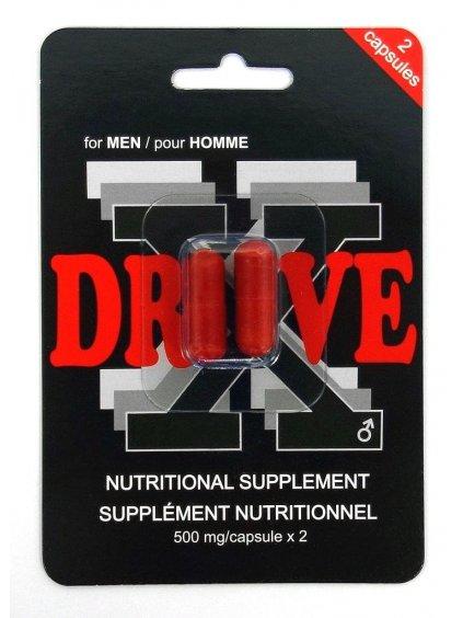 DRIVE X - tablety na okamžité posílení erekce  2 ks