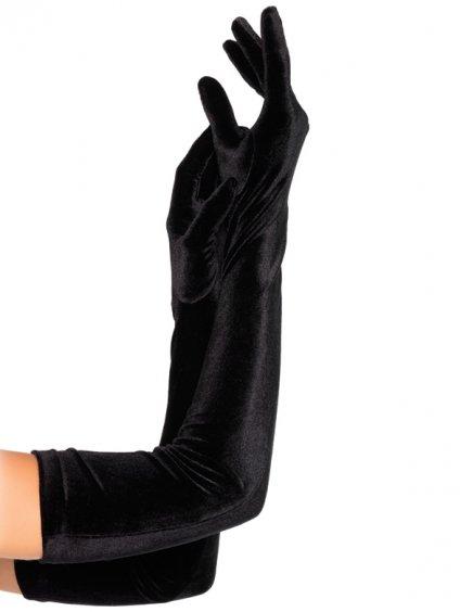 Extra dlouhé sametové rukavice Leg Avenue