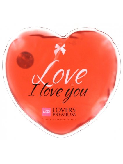 Hřejivé masážní srdíčko Lovers Premium I Love You