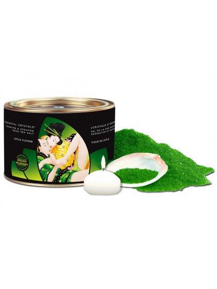 Sůl do koupele Shunga Lotus Flower  lotosový květ, 600 g