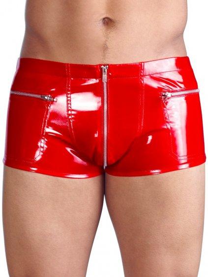Červené lakované boxerky Black Level
