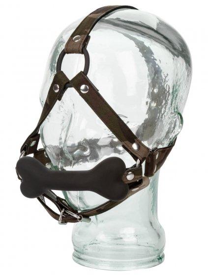 Kousací silikonový roubík s maskáčovým postrojem COLT Camo