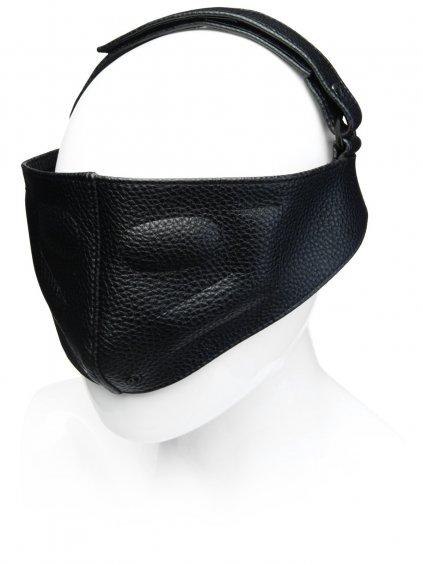 Kožená maska na oči a nos KINK Blinding Mask