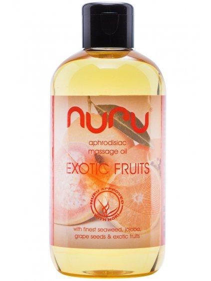 Afrodiziakální masážní olej Nuru Exotic Fruits  250 ml