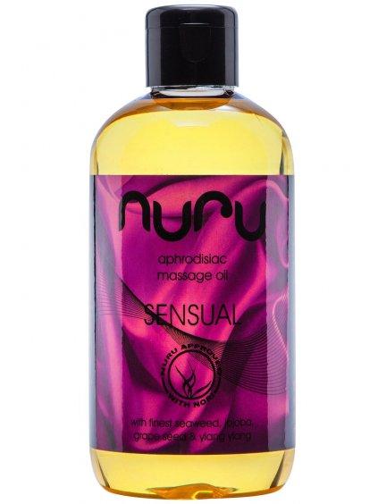 Afrodiziakální masážní olej Nuru Sensual  250 ml