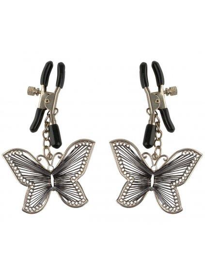 Skřipce na bradavky Fetish Fantasy Butterfly Nipple Clamps  (motýlci)