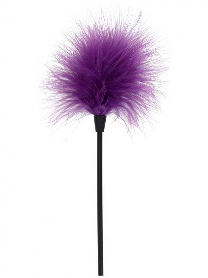 Dráždítko / lechtátko z peříček  fialové