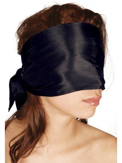 Saténový bondage šátek na oči Bad Kitty  černý