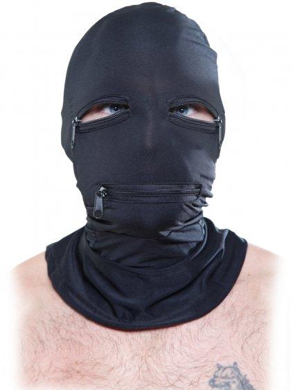 Maska na hlavu a krk se třemi zipy Zipper Face Hood