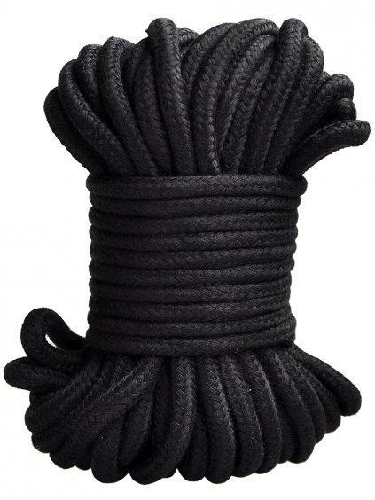 Bavlněné lano na bondage, 20 m  (černé)