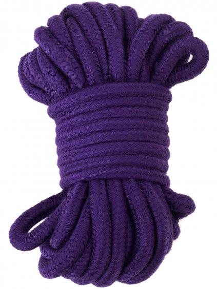 Bavlněné lano na bondage, 20 m  (fialové)