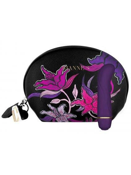 Minivibrátor na bod G Rianne S Floral Deep Purple  (se stylovou taštičkou)