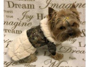 Kabátek pro psy s kožešinkou