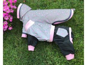 Šusťáková bunda a kombinéza pro psy -pláštěnka