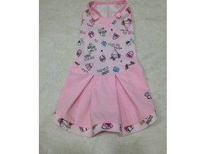 šaty pro psy růžové se vzorem