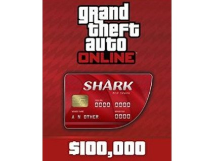 8045 grand theft auto online red shark cash card 100 000 social club pc