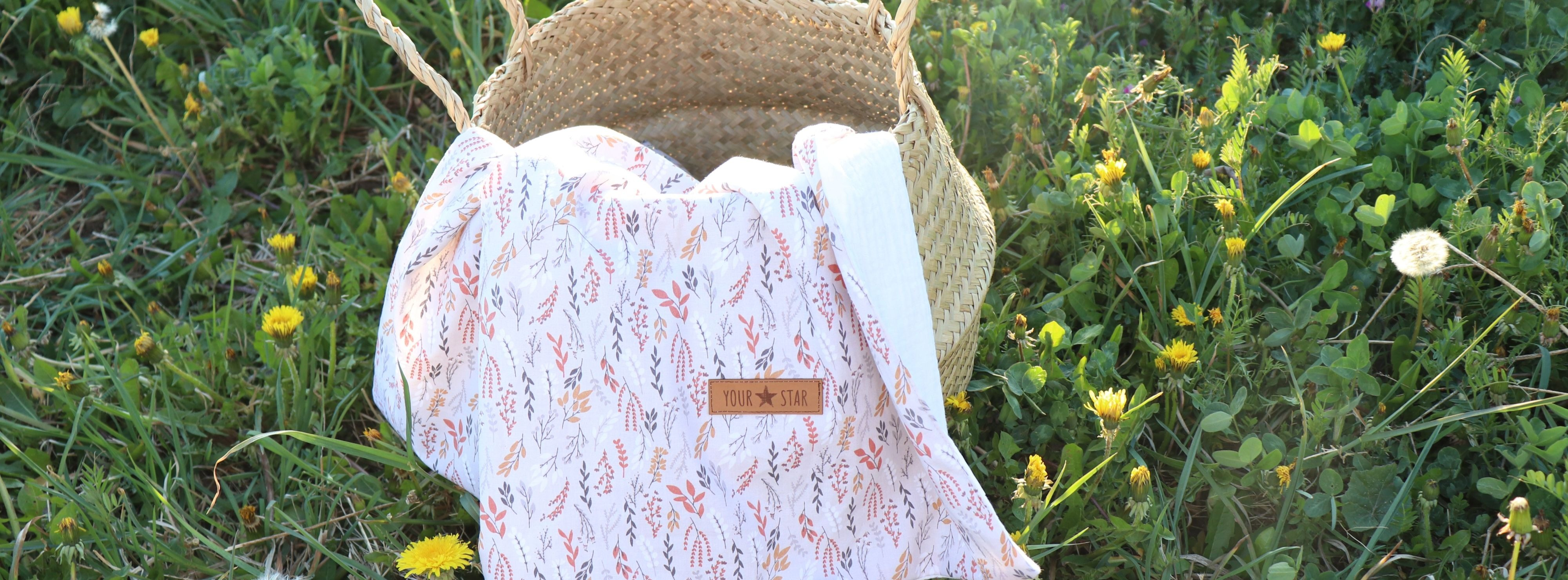 letní deka kvítí