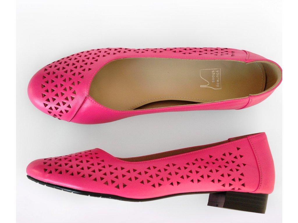Baleríny perforované - Pink