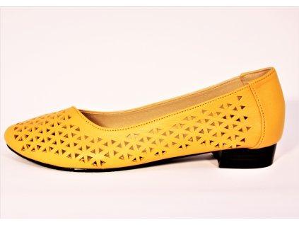 Baleríny perforované - Žluté