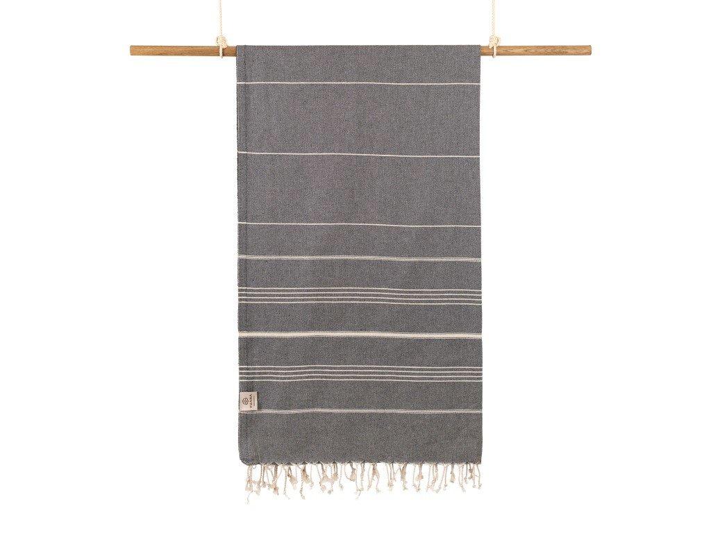 Yuana | Ručník / Peshtemal Classic (100 x 160 cm) šedý | Stylové hammam osušky