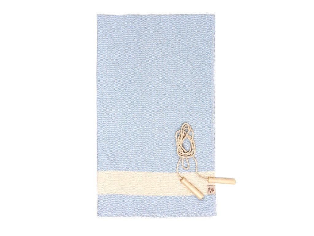 Yuana | Ručník / Peshtemal Diamond Sporty (100 x 165 cm) světle modrý | Stylové hammam osušky