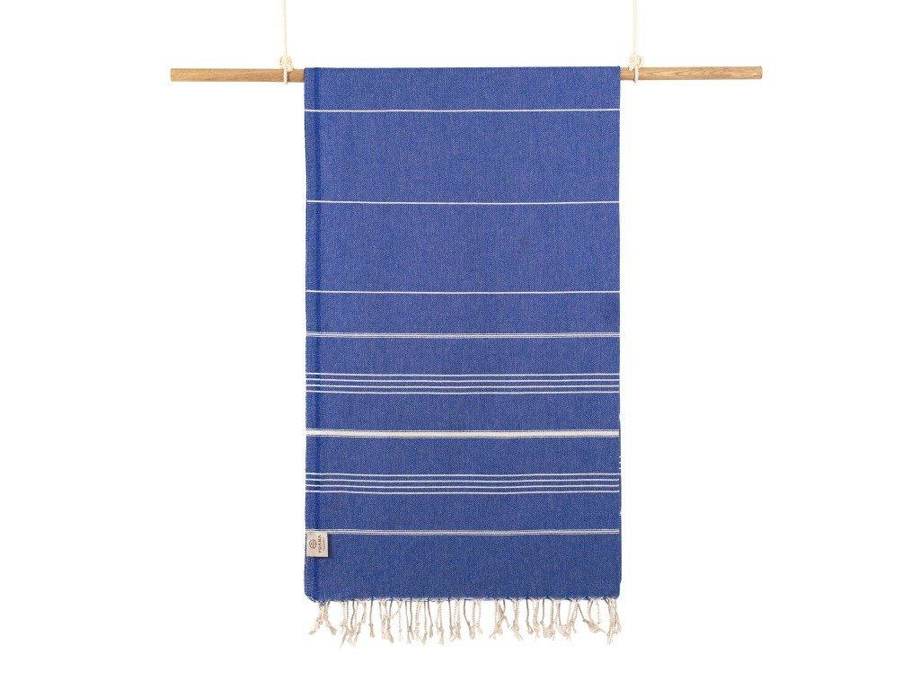 Yuana | Ručník / Peshtemal Classic (100 x 160 cm) modrý | Stylové hammam osušky