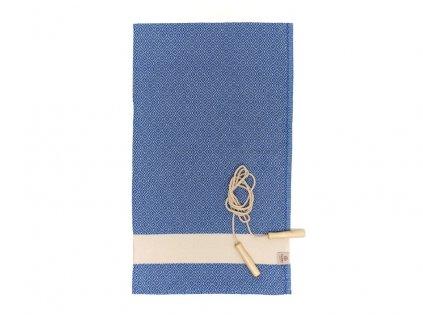 Yuana | Ručník / Peshtemal Diamond Sporty (100 x 165 cm) modrý | Stylové hammam osušky