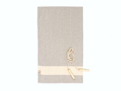 Yuana | Ručník / Peshtemal Diamond Sporty (100 x 165 cm) šedý | Stylové hammam osušky