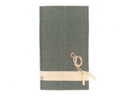 Yuana | Ručník / Peshtemal Diamond Sporty (100 x 165 cm) tmavě zelený | Stylové hammam osušky