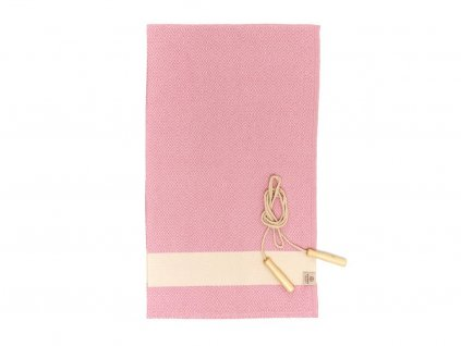 Yuana | Ručník / Peshtemal Diamond Sporty (100 x 165 cm) růžový | Stylové hammam osušky