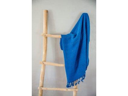Osuška Peshtemal Stonewash (85 x 160 cm) modrá