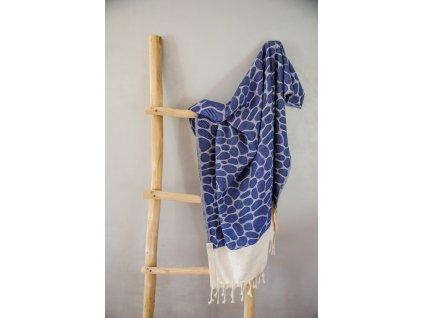 Osuška Peshtemal Rondo (90 x 185 cm) modrá