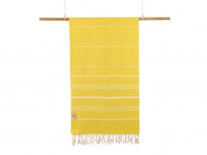 Yuana | Ručník / Peshtemal Classic (100 x 160 cm) žlutý | Stylové hammam osušky