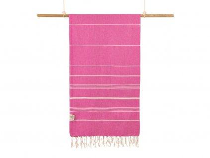 Yuana | Ručník / Peshtemal Classic (100 x 160 cm) růžový | Stylové hammam osušky