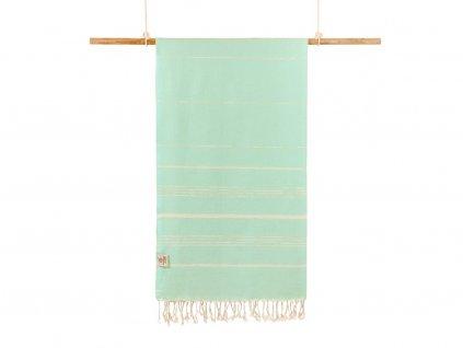 Yuana | Ručník / Peshtemal Classic (100 x 160 cm) mint | Stylové hammam osušky