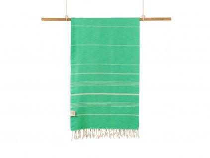 Yuana | Ručník / Peshtemal Classic (100 x 160 cm) zelený | Stylové hammam osušky