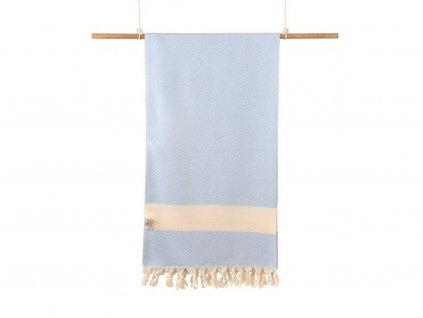 Yuana | Ručník / Peshtemal Diamond (100 x 170 cm) světle modrý | Stylové hammam osušky