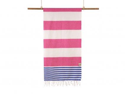 Yuana | Ručník / Peshtemal Marine (100 x 180 cm) růžový | Stylové hammam osušky
