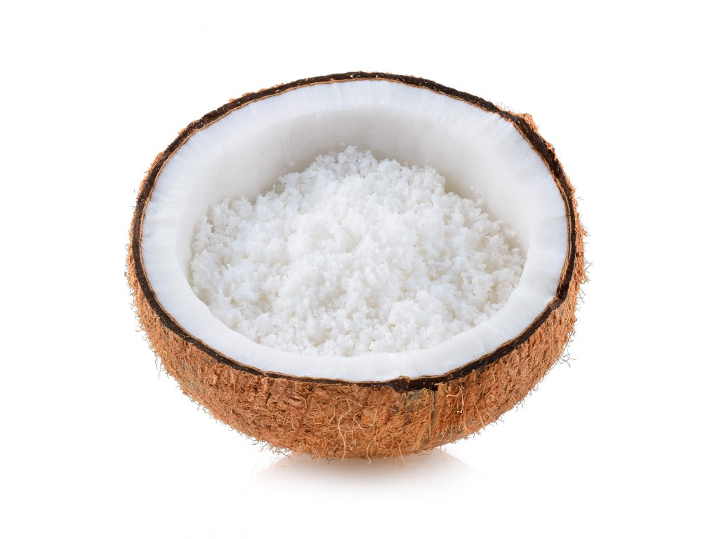 coconut with coconut s flakes isolated