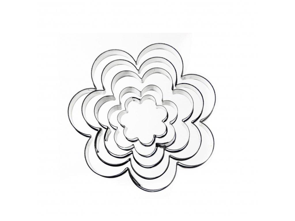 4173 2 kokova vykrajovacka kvet sada 5ks o