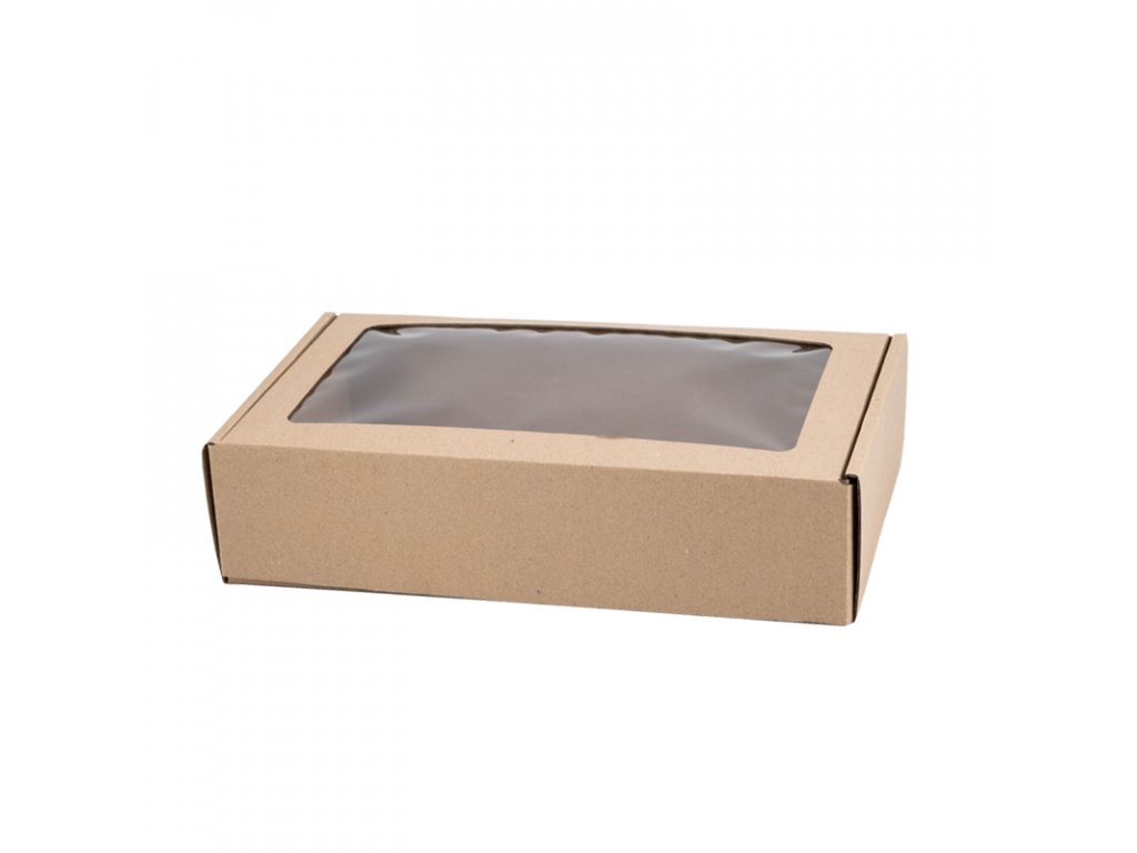 4215 1 krabicka s okienkom 250x150x60 hneda