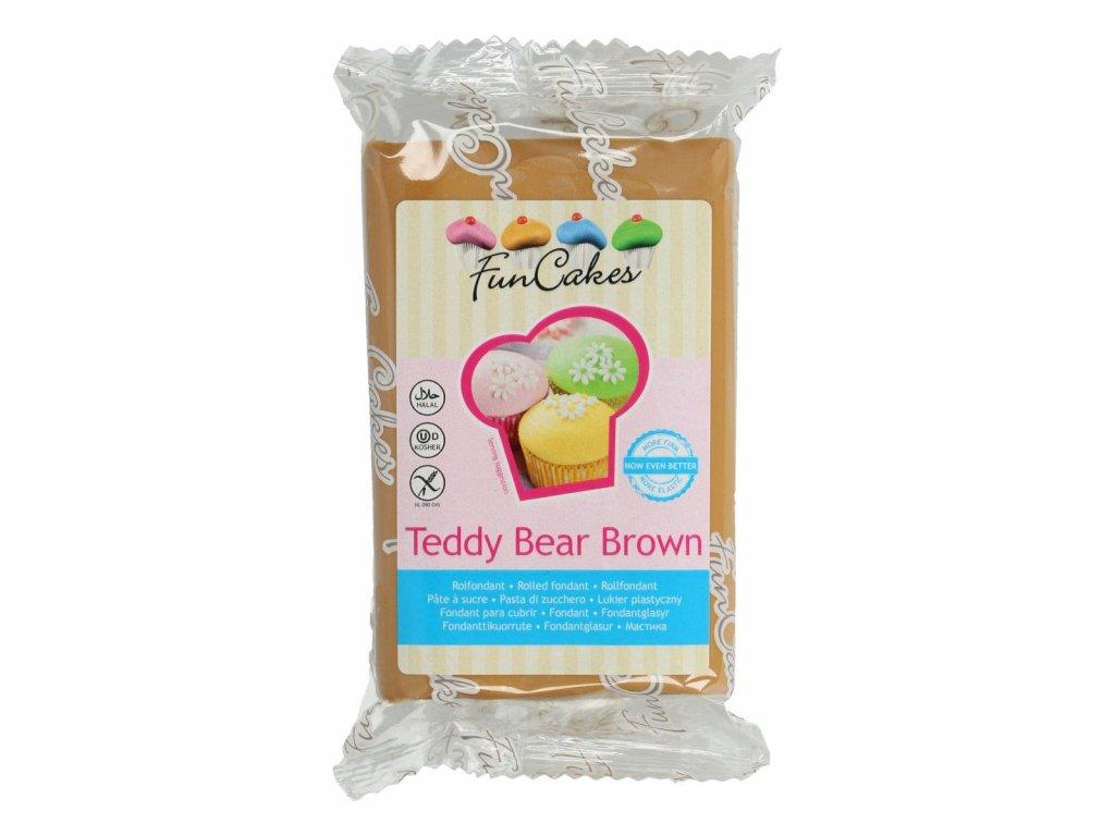 4611 1 fc fondant 250g teddy bear brown hneda