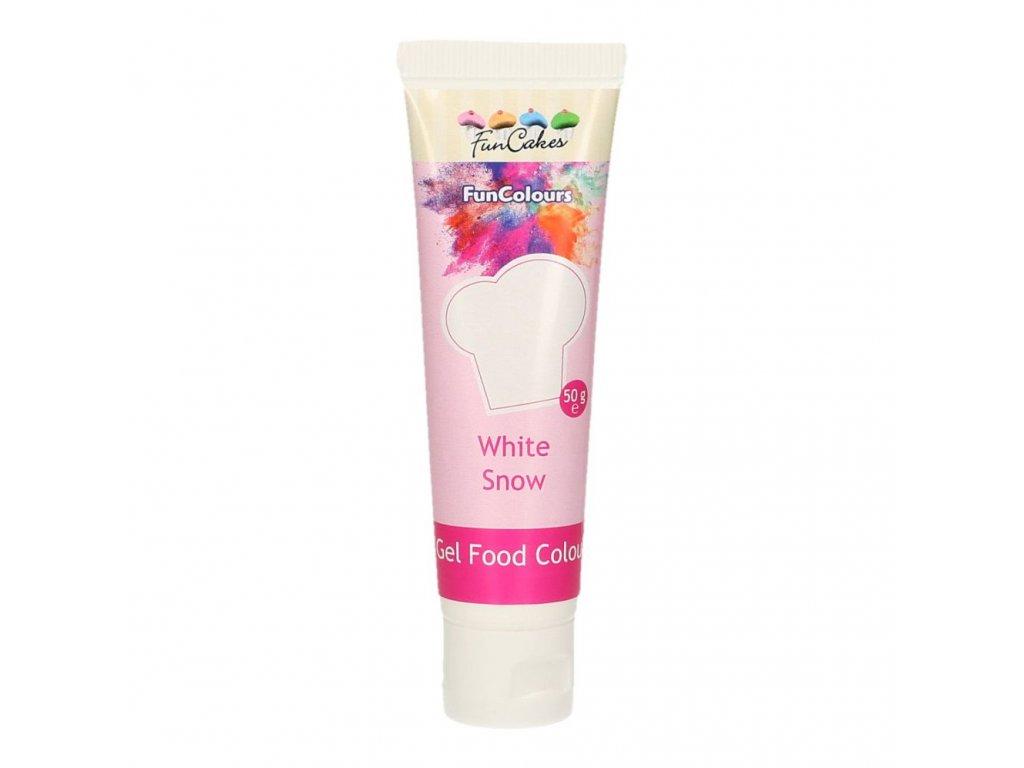 4734 2 fc gelova farba 30g white snow biela